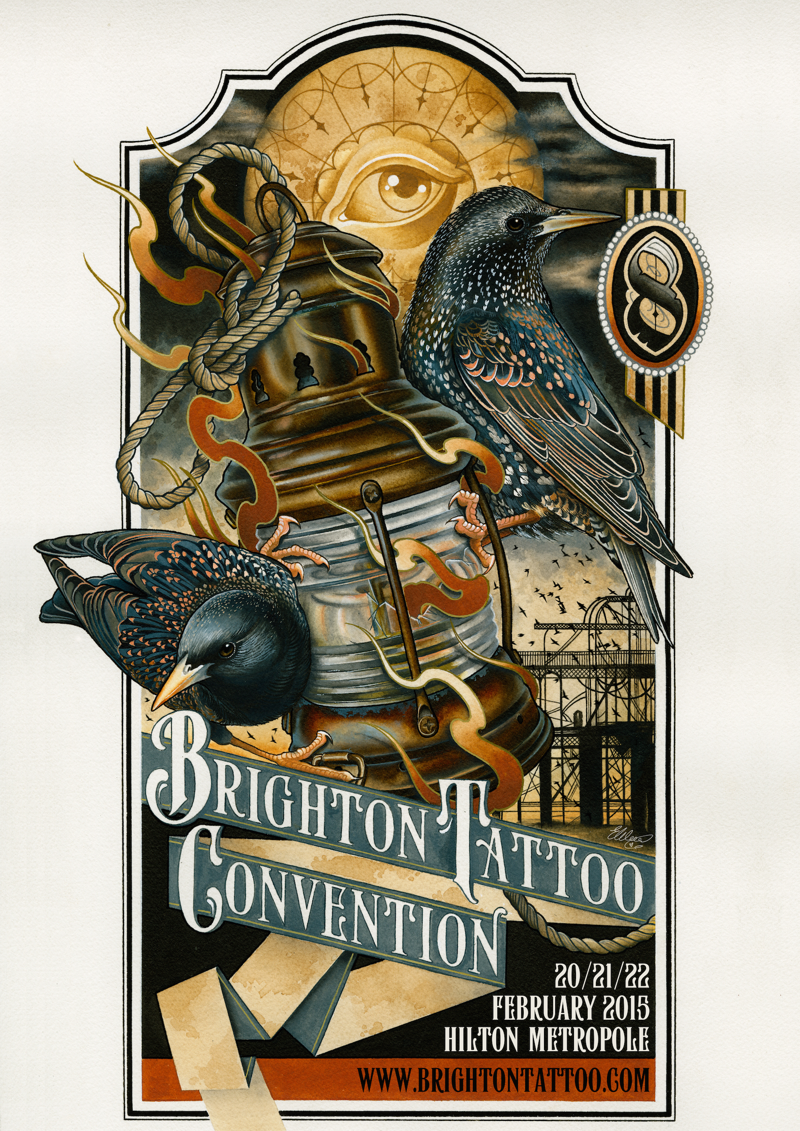 Brighton Tattoo Convention 2015 – work in progress